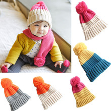 Cotton Beanie Hat For Born Kid Child Baby Boys Girls Soft Toddler knitting