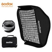 Складной портативный софтбокс Godox 60x60 см 80x80 см с креплением Bowens + сотовая сетка студийный стробоскопический диффузор для вспышки