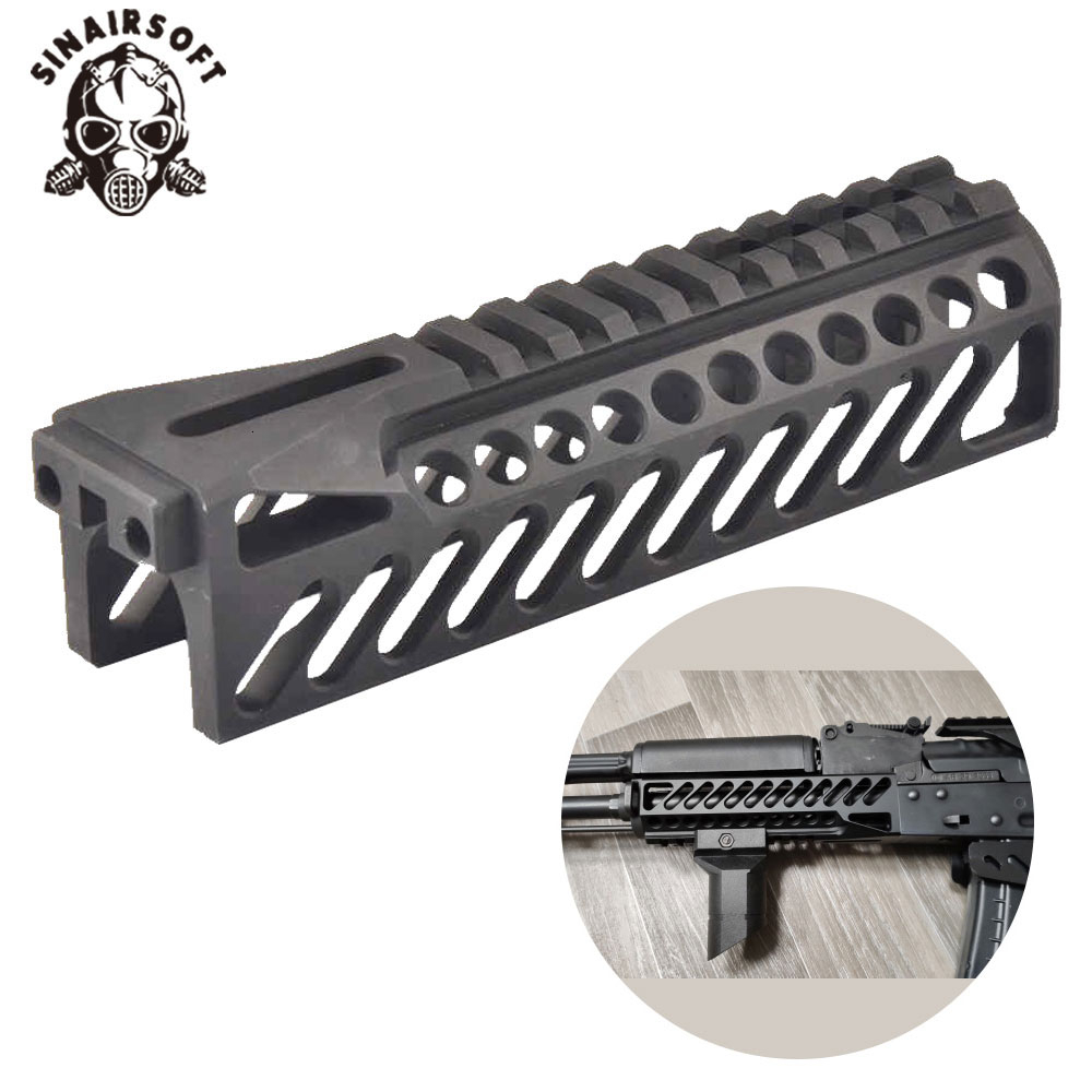 6.5 Inch Aluminum Tactical Gun Rail System GripExtend Picatinny Rail Handguard Cover For AK47 B10 Rifle Scopes Hunting Shooting