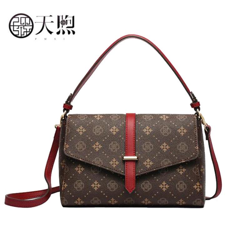 Pmsix 2020 new fashion women bag luxury PVC Material women bags designer printing quality women Shoulder Crossbody bag