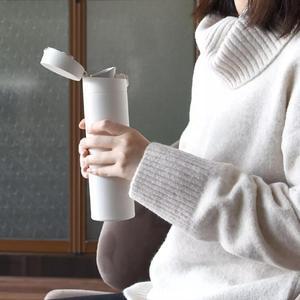 Image 5 - Orijinal Xiao mi mi ev termos bardak 2 paslanmaz çelik vakum 480ml kapasiteli seyahat taşınabilir su bardağı yalıtım kilidi 0306 #