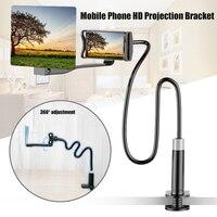 Telefone móvel de alta definição suporte de projeção ajustável flexível todos os ângulos telefone tablet titular 3d hd tela lupa h-melhor
