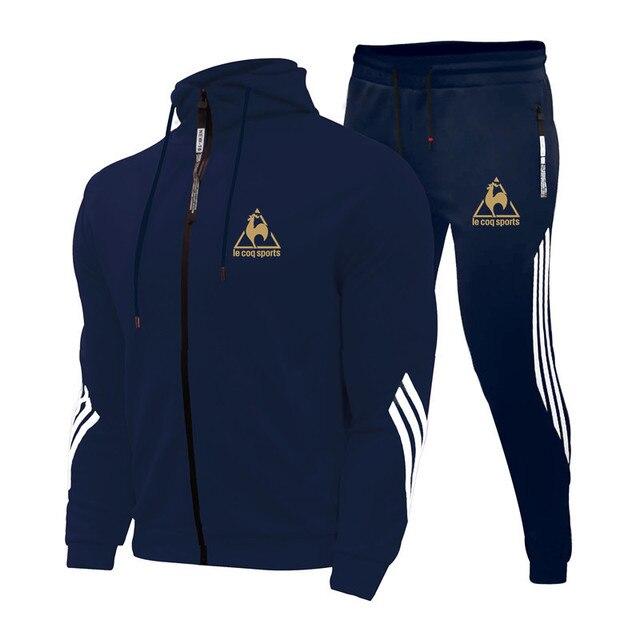 2 Pieces Sets Tracksuit Men's Sets Print Men Hooded Sweatshirt+pants Pullover Hoodie Sportwear Suit Casual Sports Men Clothes 4