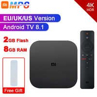 Original Global Xiaomi Mi TV Box S 4K HDR Android TV 8.1 Ultra HD 2G 8G WIFI Google Cast Netflix IPTV Set top Box Media Player