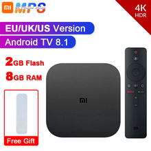 Original Globale Xiao mi mi TV Box S 4K HDR Android TV 8,1 Ultra HD 2G 8G WIFI Google Cast Netflix IPTV Set-top-Box Media Player