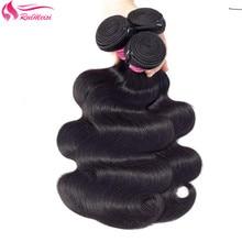 Remy-Hair Body-Wave-Bundles Natural-Color Brazilian RUIMEISI for Black Woman 150%Density