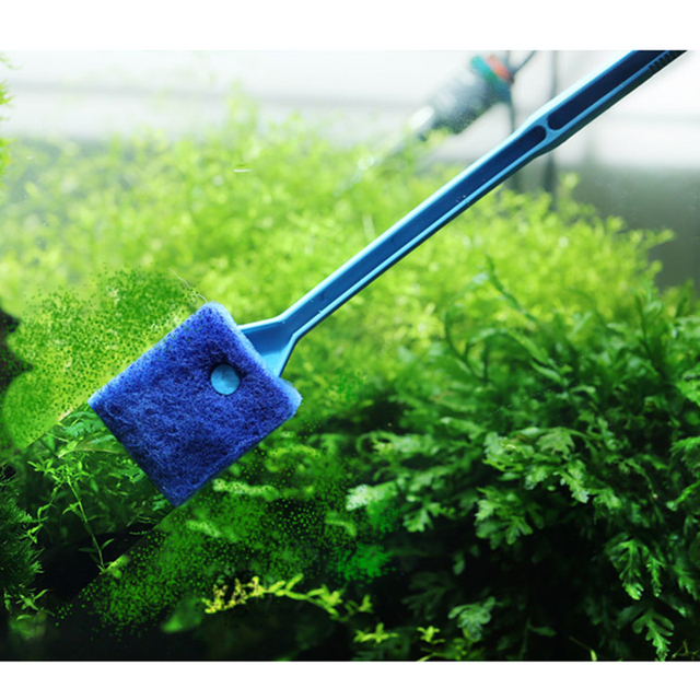 Aquarium Fish Tank Glass Plant Cleaning Brushes Floating Clean Window Algae Scraper Sponge  5