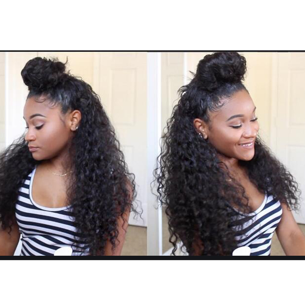 150% Density Half Up Half Down Wig  Kinky Curly 13x6 Lace Front Human Hair Wigs Free Shipping Global
