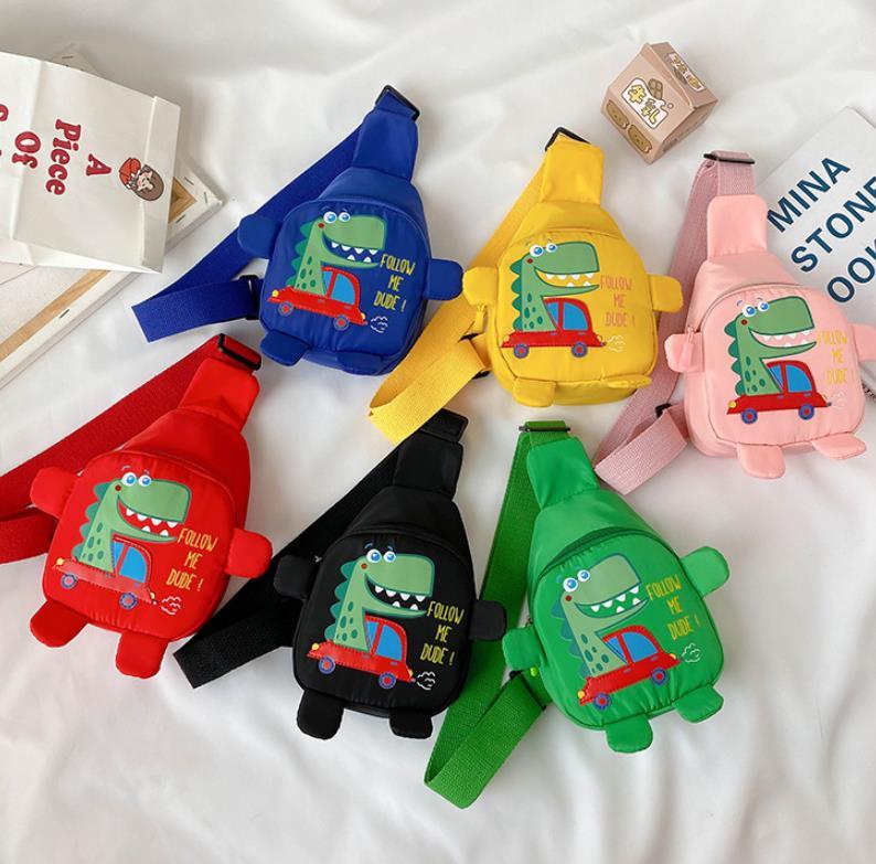 Little Kids Backpack Little Girls Mini Sling Backpack Funny Cartoon Dinosaur Print Travel Satchel Shoulder Messenger Bags