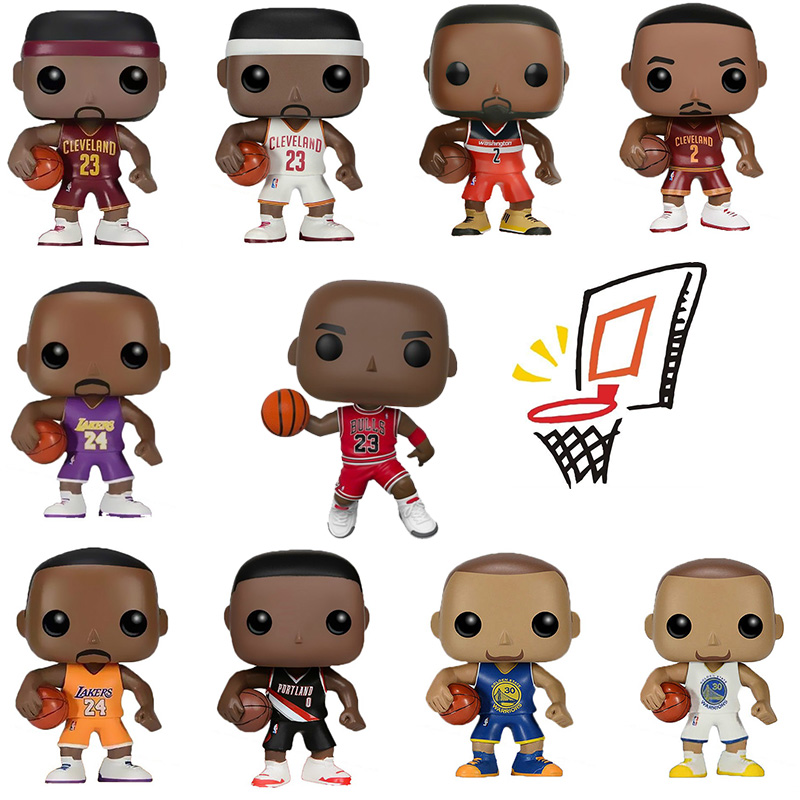 FUNKO POP Basketball All-Star Michael Jordan James Kobe Stephen Curry Kyrie Irving John Wall Action Picture For Fans Model Toys