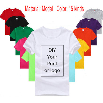 Diy Custom Logo Your Own Design Printed Tshirt Customized Text Photo Uniform Team Printing Apparel Modal Heat Transfer Process image