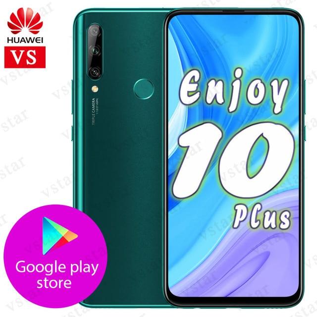 HUAWEI ליהנות 10 בתוספת Mobilephone 6.59 קירין 710F אוקטה Core אנדרואיד 9.0 16MP אוטומטי לצוץ מצלמה טביעות אצבע נעילה google לשחק