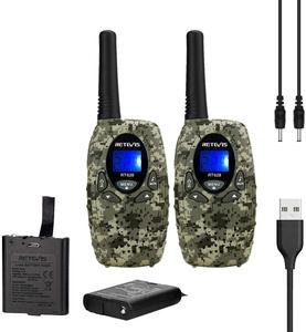 Retevis RT628 Rechargeable Kids Walkie Talkie 2pcs PMR446 PMR FRS VOX Mini Portable Radio Birthday Present Christmas Gift