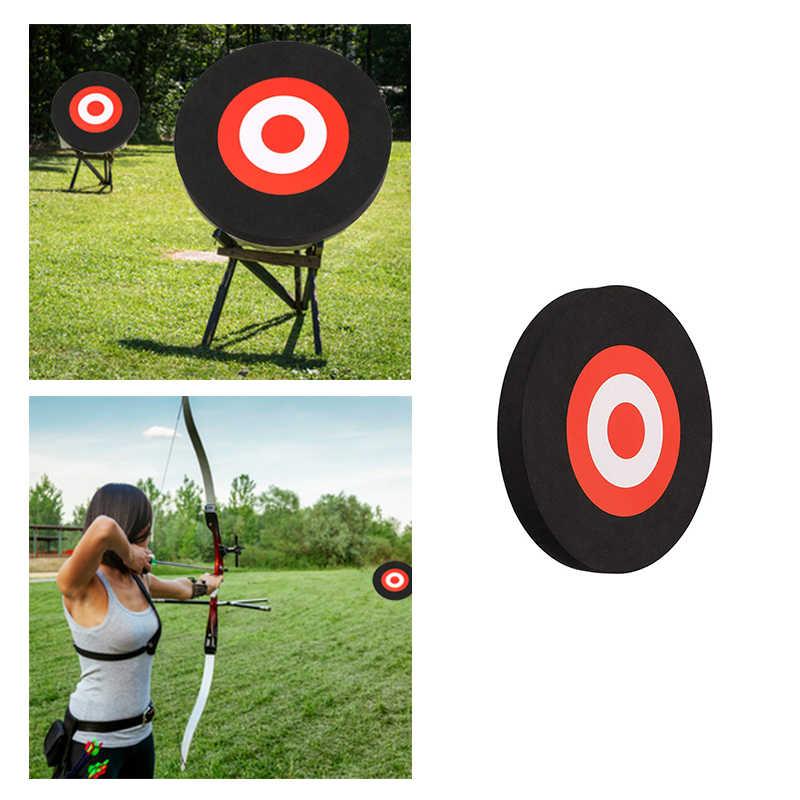Fanuse 25 X 3Cm Tiro con LArco Eva Foam Target Self Healing Bow Moving Pratica di Caccia Nero Rosso