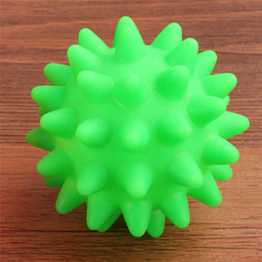 2020 yeni güzel yeni kauçuk topu oyuncak köpek Pet eğlenceli Spikey topu ısırma çiğneme ve oyuncaklar satın alma
