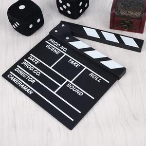 Image 4 - Film TV Show Cut Action Wooden Movie Clapboard Theater Party Oscar Decoration Movie Clapper Board Photo Studio Film Making Prop
