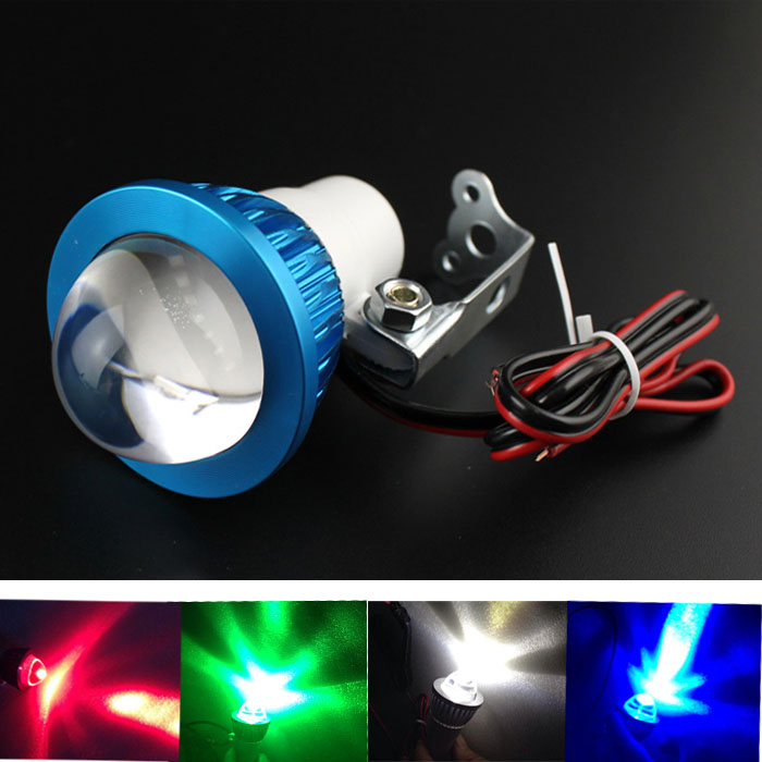 12-80V Universal Bright LED Strobe Motorcycle Headlight Indicator