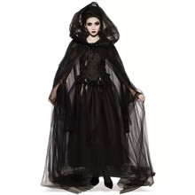 Halloween Witch Vampire Role Playing Cloaks Suit Queen Costume Hooded Dress Women Capes Cosplay Party