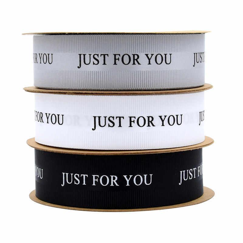 뜨거운 판매 10/20meters/roll 당신을 위해 폴리 에스터 늑골이있는 리본 2.5cm 결혼식 꽃 장식 리본 케이크 상자 고급 리본