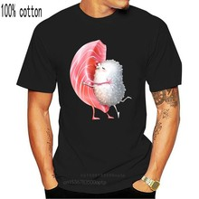 Camiseta rosa para hombre, camiseta de Maguro Sushi, Hug and Kiss, camiseta de calle de hip hop japonés