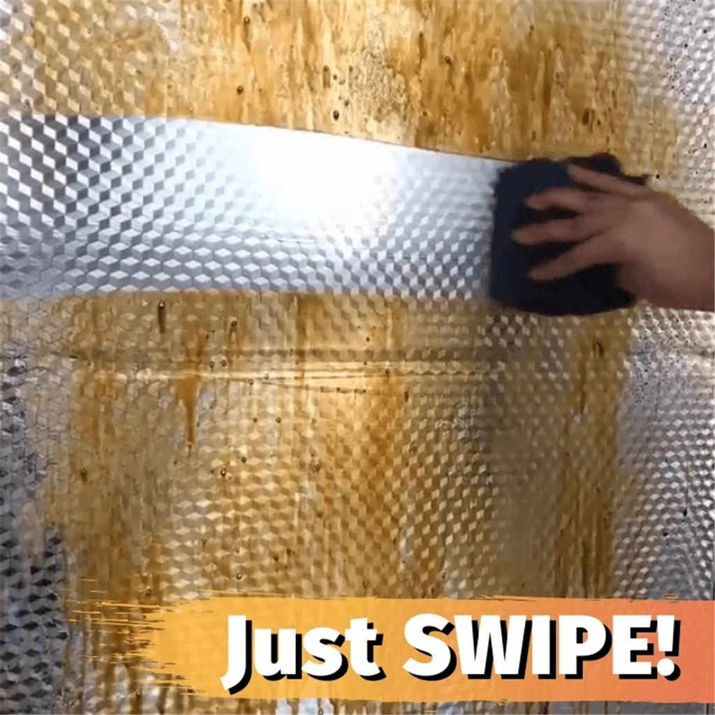 שמן הוכחה טפט קיר מדבקה עבה רדיד אלומיניום מטבח ארון עמיד למים אנטי עכירות Selfadhesive 100/300/ 500 cm