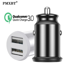 цена на 5V/3.1A Fast Charger Mini USB Car Charger For Mobile Phone Tablet GPS Car-Charger Dual USB Charging Adapter in Car For Xiaomi 8
