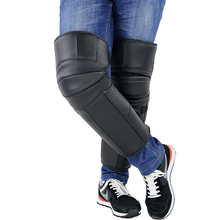 MoFlyeer Leather Wool Motorcycle Unisex Knee Pads Warm Winter Riding Cold Windproof Electric Bike Knee Pads woolen windproof cold proof knee pad off white pair set