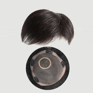 WTB pelo sintético con pinza en peluquín pelo recto de adorno con flequillo para hombre Natural negro clásico rebabas avión a la moda