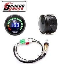 """「 DRAGON 」 2 """"52 мм Датчик соотношения воздушного топлива светодиодный цифровой дисплей с более узким диапазоном датчика кислорода O2 Автомобил..."""