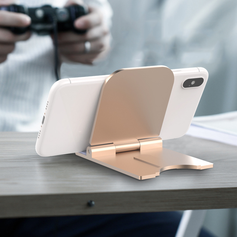 Universal Folding Cell Phone Table Stand Plastic Desk Mobile Phone Holder Phone And Tablet Ring Holder For IPhone Samsung TSLM1