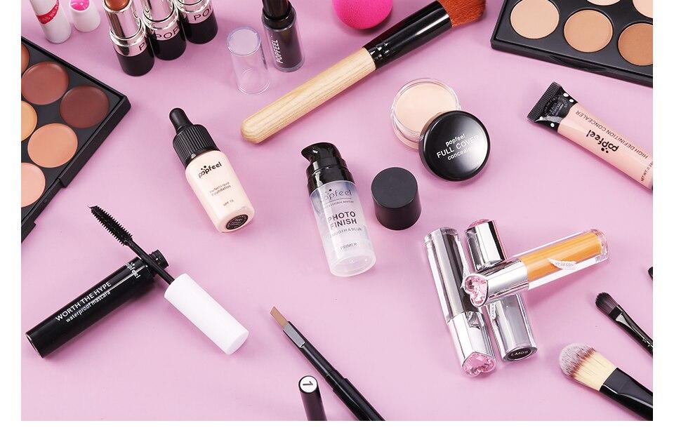 24 pçs conjunto de maquiagem fosco sombra