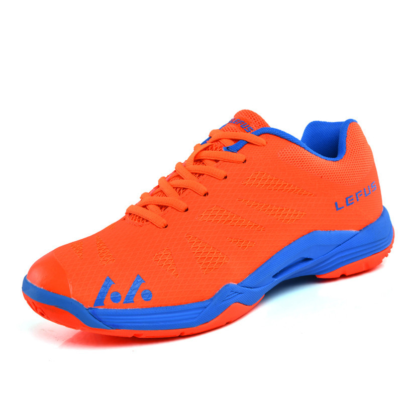 Volleyball Shoes Men Women Breathable Badminton Sneakers Orange Blue Training Volleyball Sneaker Men Lightweight Tennis Shoes