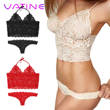 VATINE 2Pcs/Set Exotic Lingerie Babydoll Nightwear Lace Women Sexy Lingerie Exotic Apparel