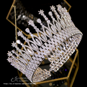 Image 3 - Fashion Tiara Princess Tiara Headdress Wedding Hair Accessories Big Crown Princess Bride Hair Accessories Bride  A00658