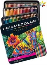 Prismacolor – Crayons De Couleur à l'huile douce Sanford, paquet De 132, Crayons d'art en bois, pour dessin et peinture, papeterie