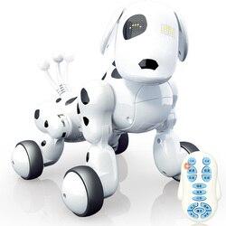 Cão Brinquedo Do Cão Máquina inteligente 2.4G Controle Remoto Sem Fio Novo Enigma Elétrico Dança Programação Brinquedos do cão para crianças