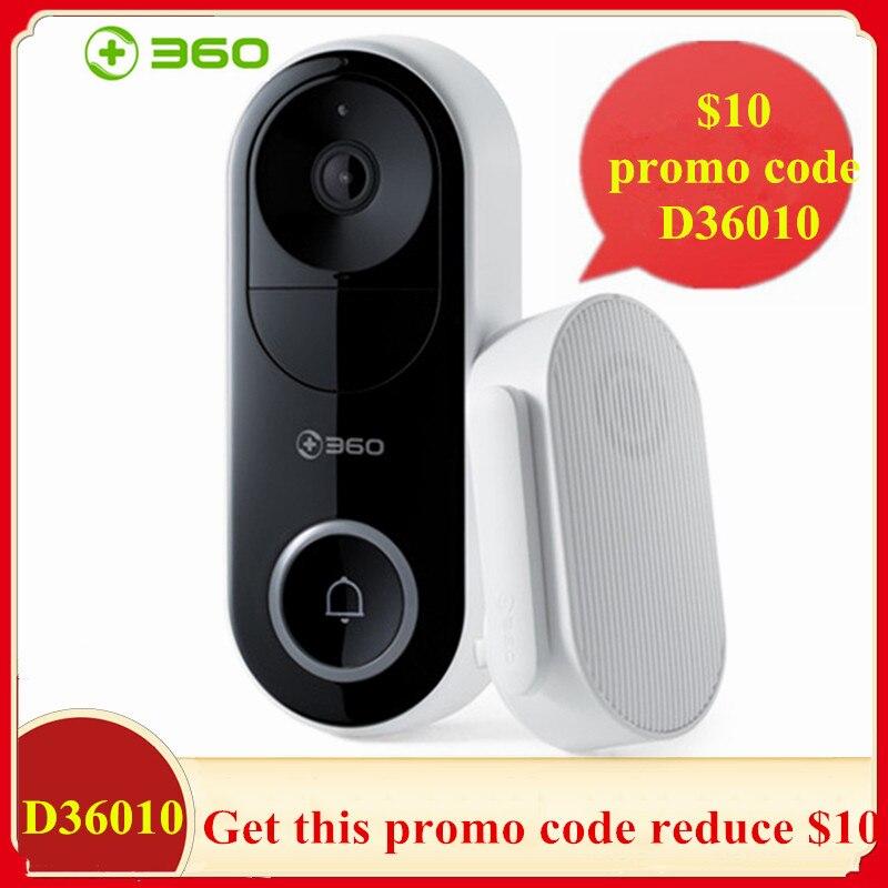 360 d819 1080 p inteligente vídeo campainha ai reconhecimento facial ir wi fi vídeo porteiro nuvem gravação de alarme câmera segurança sem fio