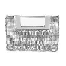 Bolso de mano de aluminio para baile de graduación para mujer, bolso de mano para fiesta de noche, de Pu