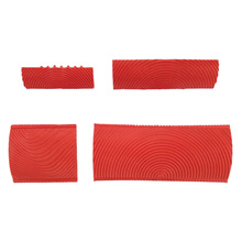 Graining-Tool-Set Wall-Painting Decoration Rubber Wood for DIY 4PCS