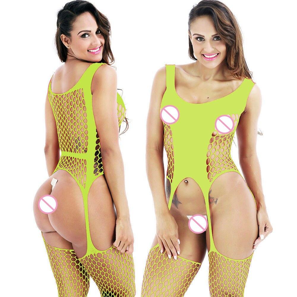 Sexy Lingerie Women Erotic Babydoll Fishnet Stockings Porno Stockings Dress Sleepwear Mujer Sex Underwear Lace Langerie Costumes