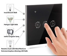 WIFI Smart Remote Touch Dimmer Switch Alexa Google Tmall Smart Black Dimmer Switch