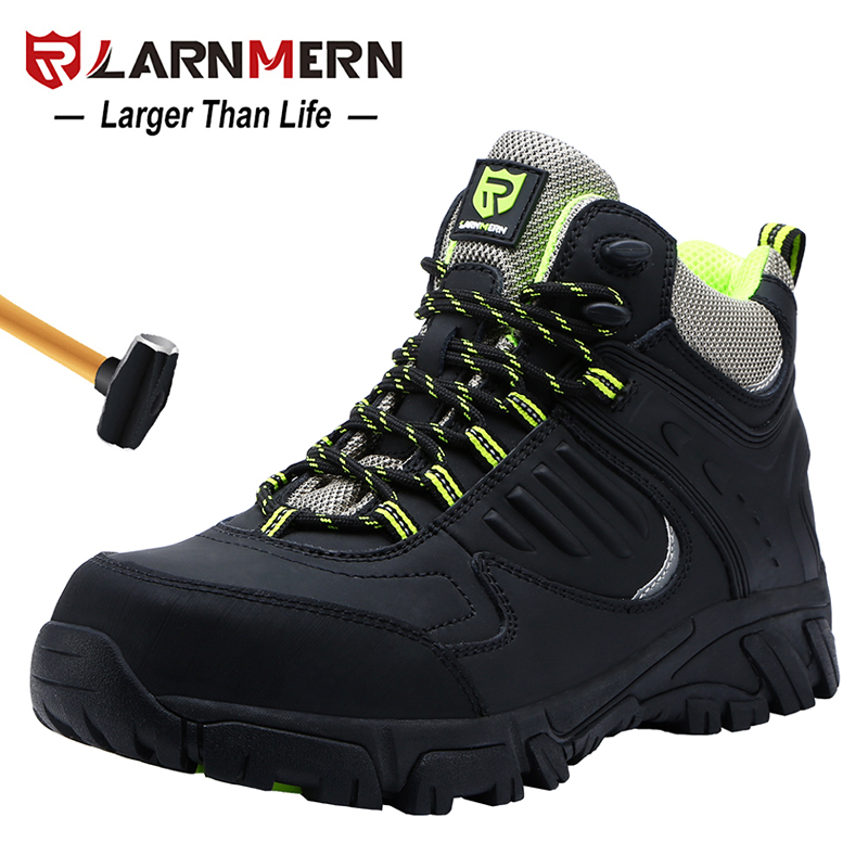 LARNMERN Men's Work Safety Boots Construction Protective Footwear Anti-smashing Anti-puncture Reflective Protective Boots
