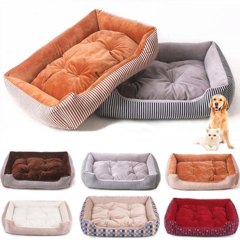 baby soft large Pet Dog Bed Cat kennel Warm Cozy Dog House Soft Fleece Nest Dog Baskets Mat Autumn Winter Waterproof Kennel 1
