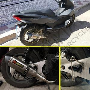 Image 2 - PCX 125 150 Motorfiets Scooter Uitlaat Volledige System Midden Pijp Slip Op Escape Fit Voor HONDA PCX125 PCX150 2014 2017