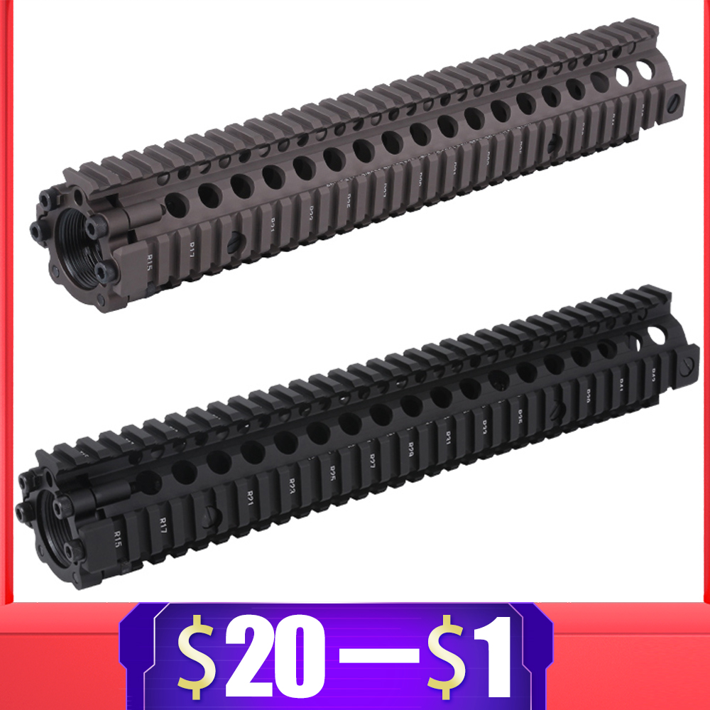 "Aluminum Hard Coat Anodized for 7""9""12"" Airsoft Handguard Tactical Rail for AR AEG Airsoft M4 Gel Blaster Paintball Accessories(China)"