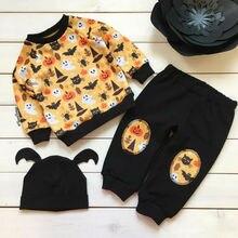 3PCS Toddler Kids Baby Girl Clothes Boy Halloween Clothing Sweatshirt Pants Tracksuits