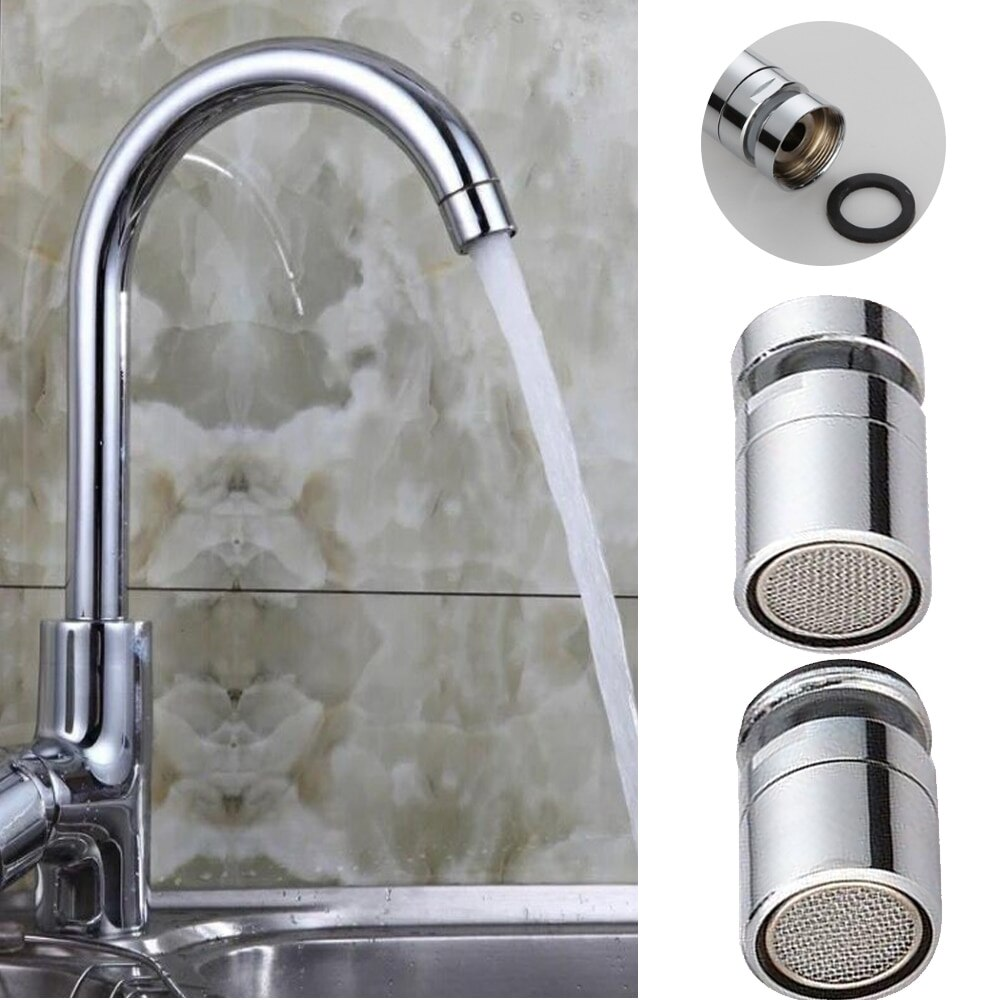 New Brass Water Saving Tap Faucet Aerator Sprayer Attachment with 360-Degree Swivel Mixer Aerator Tap