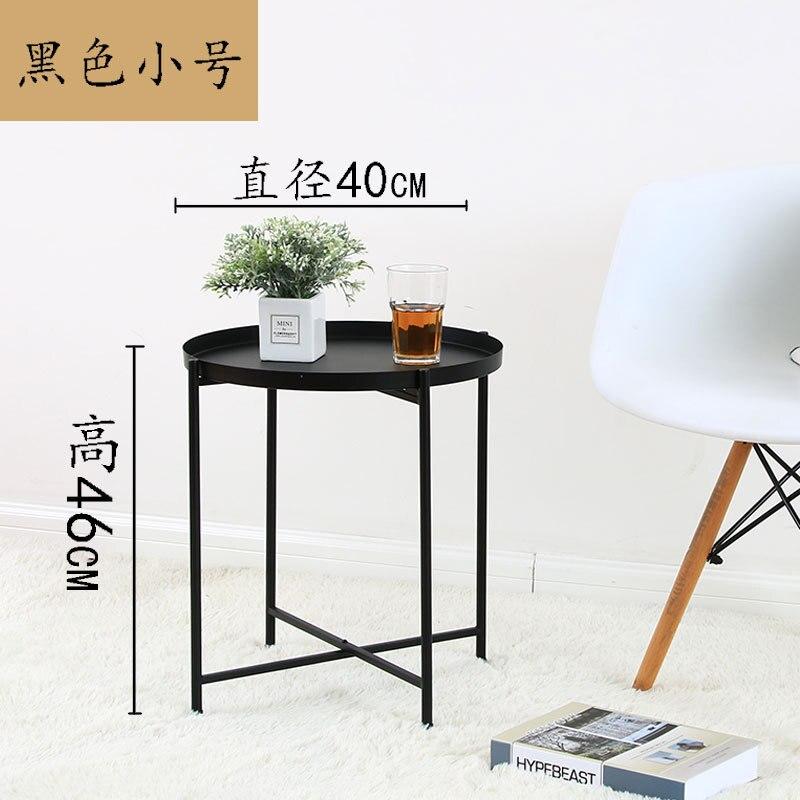 Nordic bedhead recebe pequena mesa de chá o lado do sofá desmontagem mesa dobrável sala de estar móveis mesa de café - 5