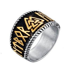 Этнический символ миф Тор молоток кольцо из нержавеющей стали ювелирные изделия кельтский узел кольцо норвежский викинг Мотор Байкер мужс...