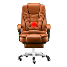 New products  boss computer chair office home swivel massage chair lifting adjustable chair With Footrest Free shipping